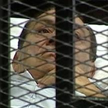'Former Egyptian President Hosni Mubarak is seen in the courtroom for his trial at the Police Academy in Cairo in this still image taken from video August 3, 2011. Egypt\'s Hosni Mubarak was shown whe