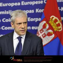 \'(120227) -- BRUSSELS, Feb. 27, 2012 () -- Serbian President Boris Tadic speaks during a press briefing held together with EUØs high representative for foreign affairs and security policy Catherine A