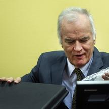 'Former Bosnian Serb army commander Ratko Mladic attends his trial at the International Criminal Tribunal for the former Yugoslavia (ICTY) at The Hague May 16, 2012. Mladic, 70, appeared on Wednesday