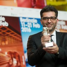 66th International Film Festival in Berlin, Germany, 20 February 2016.Closing and Berlinale Award Ceremony: winner of the Silberner Baer (silver bear) grand prize of the jury, Danis Tanovic (screenplay and director