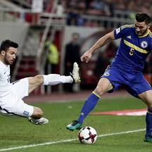 Football Soccer - Greece v Bosnia and Herzegovina - 2018 World Cup Qualifying European Zone Football Soccer - Greece v Bosnia and Herzegovina - 2018 World Cup Qualifying European Zone - Group H  - Georgios Karaiskakis stadium, Piraeus, Greece - 13/11/16 G