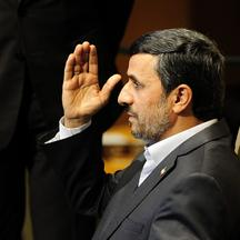 \'Iran\'s President Mahmoud Ahmadinejad addresses the 66th UN General Assembly at the United Nations headquarters in New York, September 22, 2011. EU delegations Thursday staged a walkout of a speech