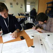 epa03901843 Interviewers prepare their questionasry forms in Sarajevo, Bosnia and Herzegovoina, 08 October 2013, in preparation of Bosnia's first census since the Balkan war in which an estimate 100,000 people were killed. Bosnia and Herzegovina on 08 Oct
